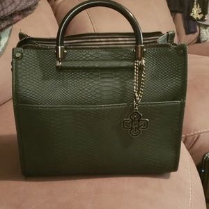 Gianni Bini Dark Green Snake Handbag/Crossbody